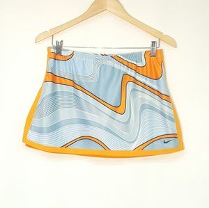 🎾 Nike Tennis Skirt Orange Swirl Athletic Golf S